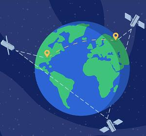 What is GPS? Earth with Satellites surrounding it beaming location information